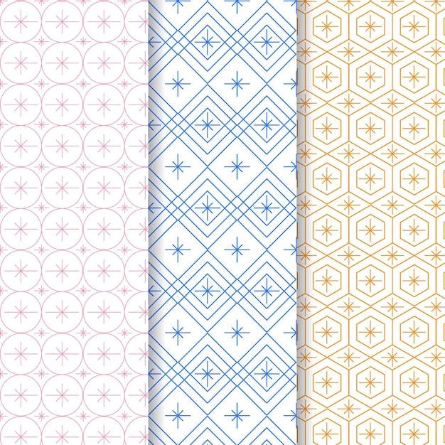 Pastelkleurige minimale geometrische patroonsjabloon Premium Vector