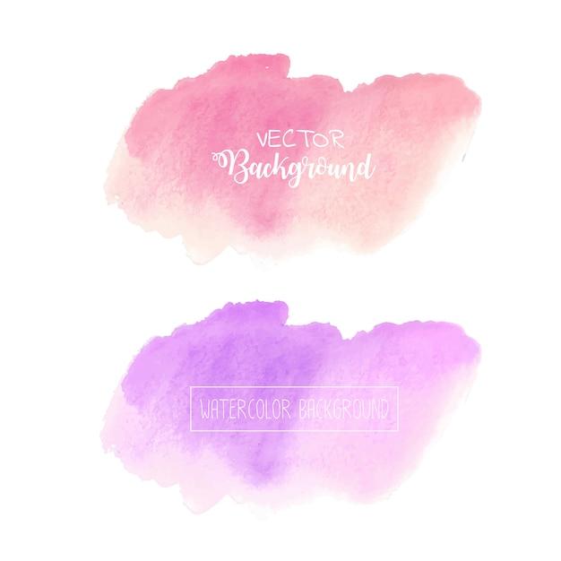 Pastelkleurwaterverfachtergrond, het embleem van de pastelkleurwaterverf, vectorillustratie. Premium Vector