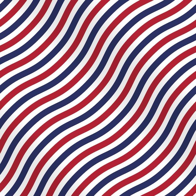Patriottisch amerikaans patroon met strepen op witte achtergrond Premium Vector