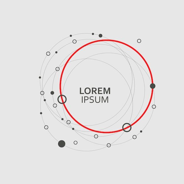 Patroon cirkel abstracte achtergrond instellen Premium Vector
