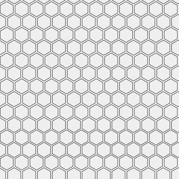 Patroon gemaakt met geschetste zeshoeken Gratis Vector