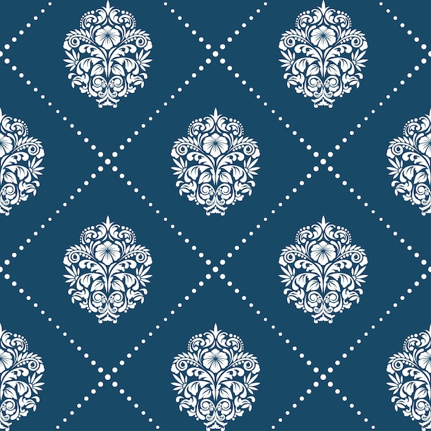 Patroon in victoriaanse barokke stijl. floral element achtergrond ornament, Gratis Vector