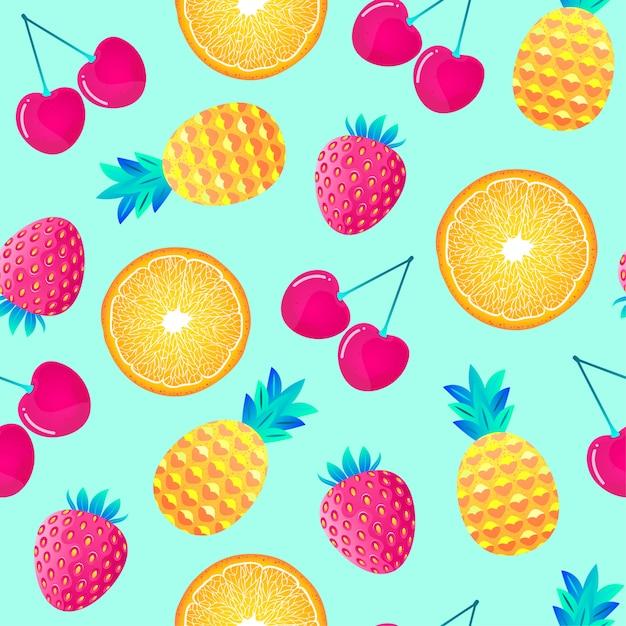 Patroon met fruit Premium Vector