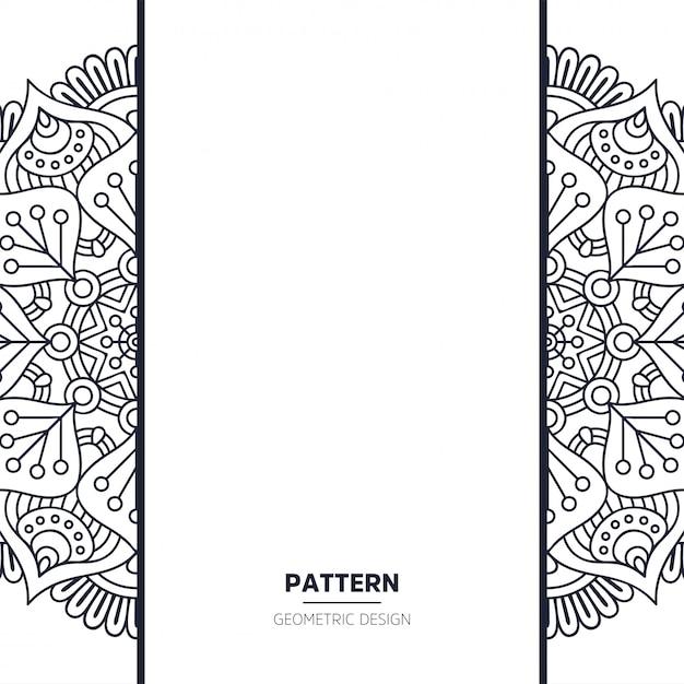 Patroon met mandala Gratis Vector