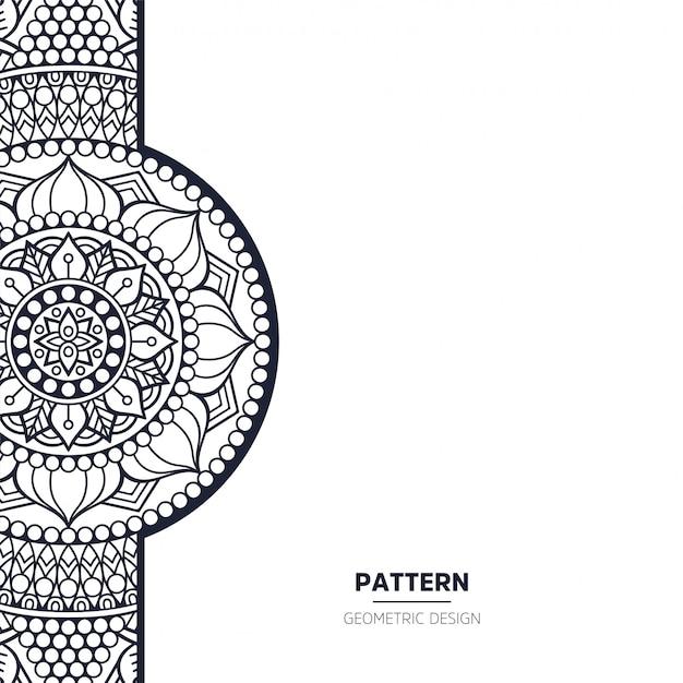 Patroon met mandala Premium Vector
