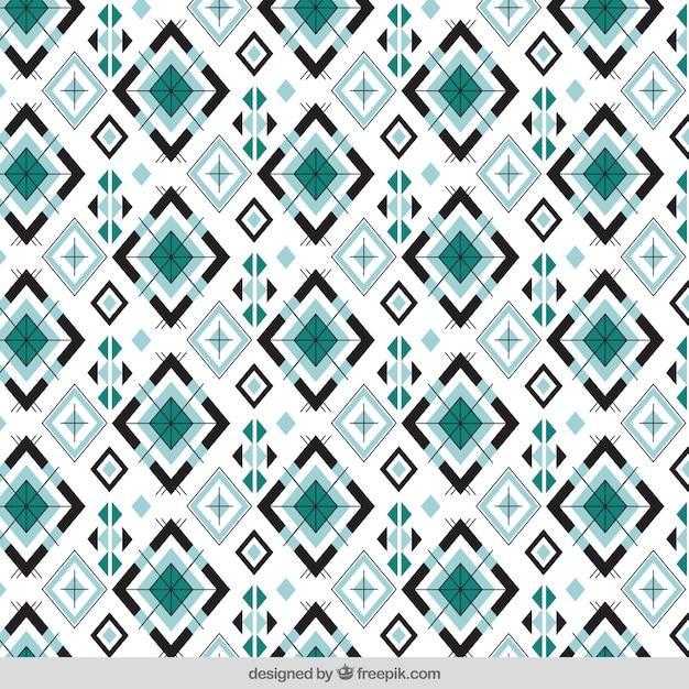 Patroon van geometrische vormen Gratis Vector