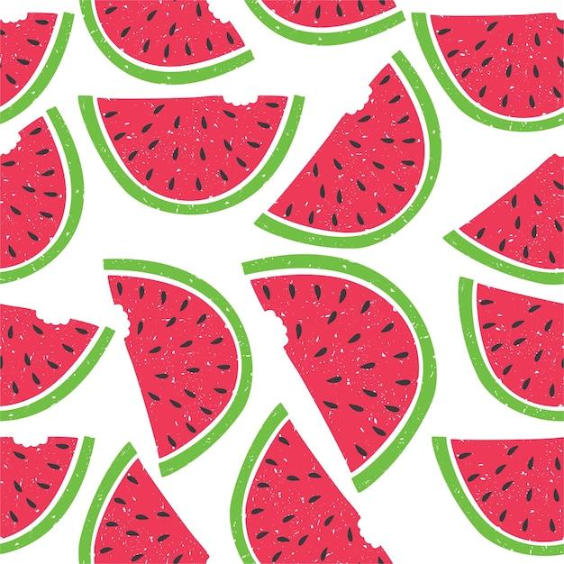 Patroon van watermeloen Gratis Vector