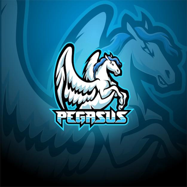 Pegasus mascotte logo Premium Vector