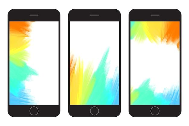 Penseel geschilderde lijnen achtergronden. achtergrond met artistieke gevolgen wordt geplaatst die. Premium Vector