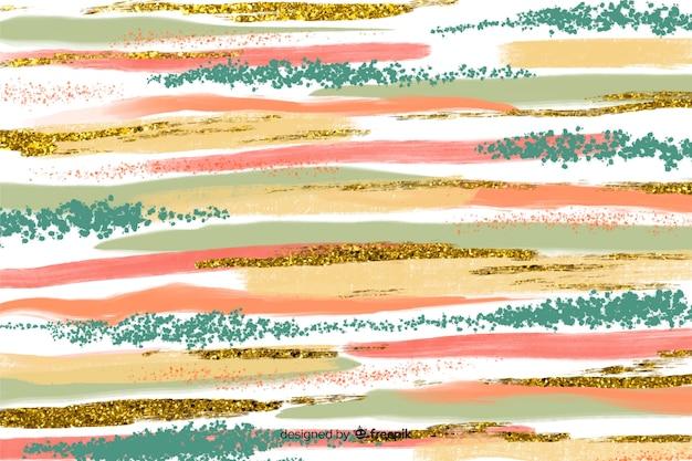 Penseelstreken abstracte achtergrond Gratis Vector