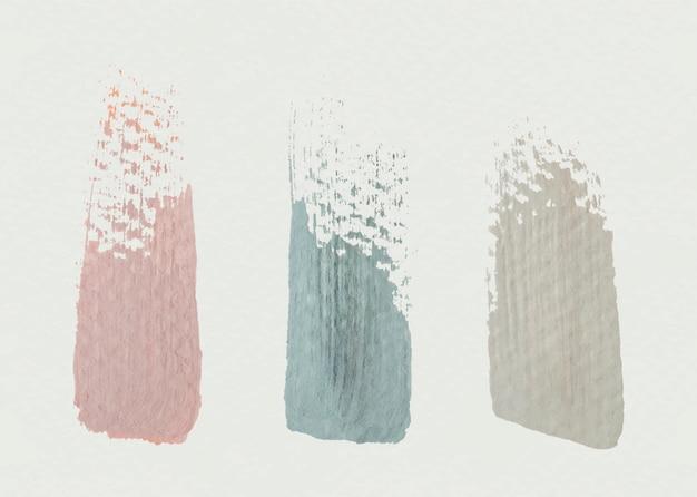 Penseelstreken texturen Gratis Vector