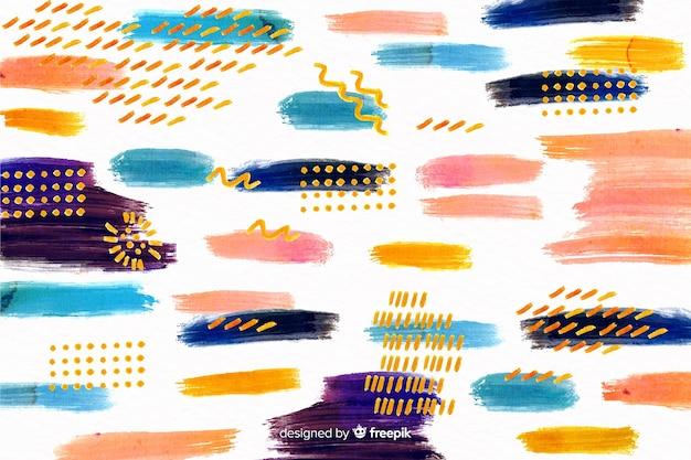 Penseelstreken verf ontwerp achtergrond Gratis Vector