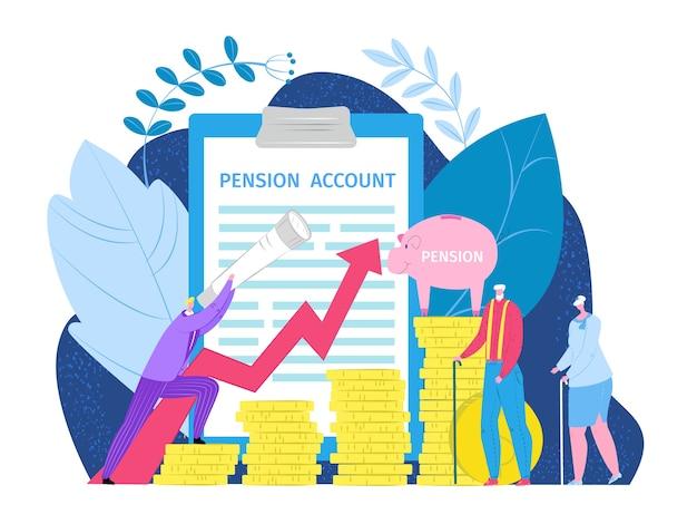 Pensioen pensioen inkomen investeringsconcept Premium Vector