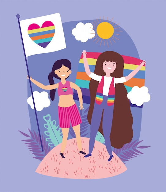 People community lgbtq Premium Vector