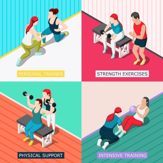 Persoonlijk sport trainer concept Gratis Vector
