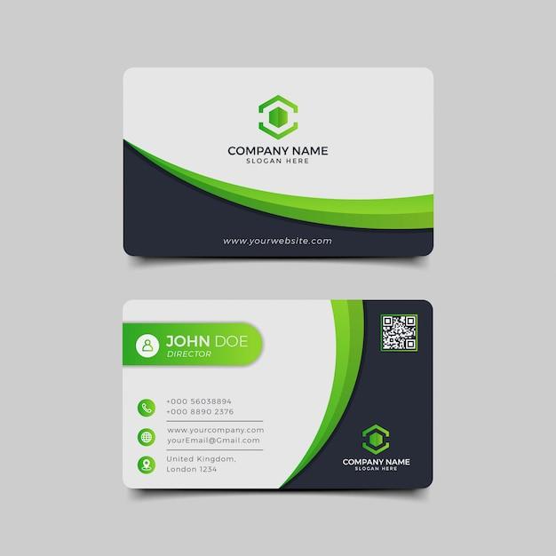 Persoonlijk visitekaartje groen zwart Premium Vector