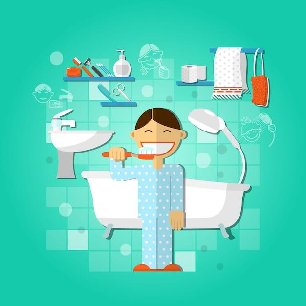 Persoonlijke hygiëne concept Gratis Vector