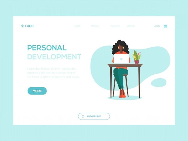 Persoonlijke ontwikkeling web illustratie Premium Vector