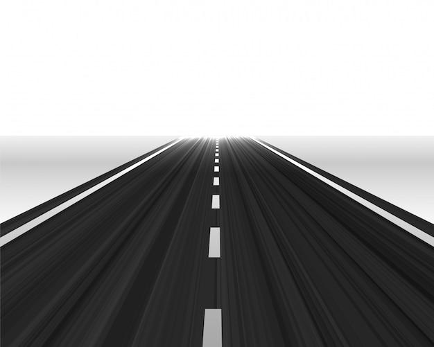 Perspectiefweg naar de horizon Gratis Vector