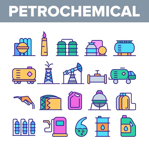 Petrochemische industrie Premium Vector