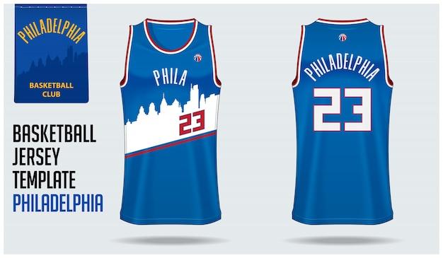 Philadelphia basketbalshirt Premium Vector