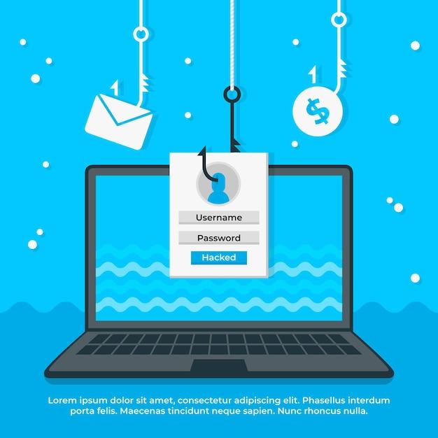 Phishing-account concept Gratis Vector