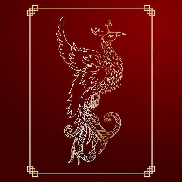Phoenix achtergrond ontwerp Gratis Vector