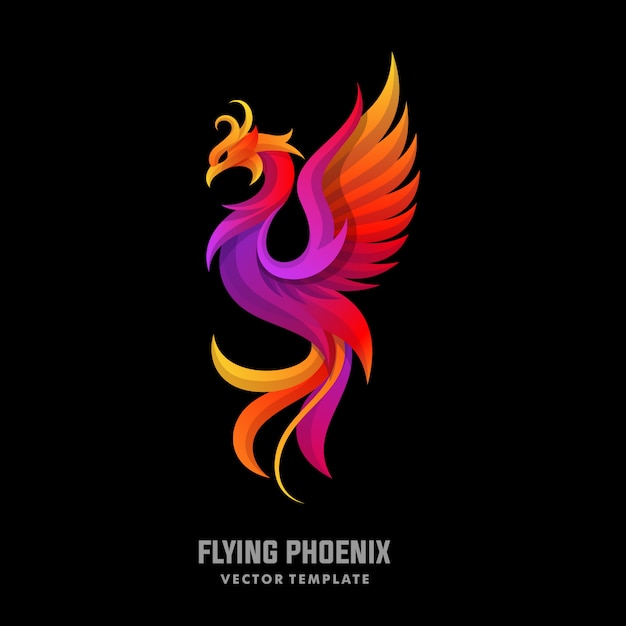 Phoenix concept designs illustratie vector sjabloon Premium Vector