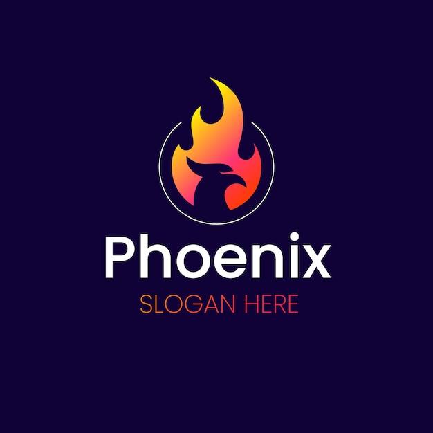 Phoenix logo achtergrond concept Gratis Vector