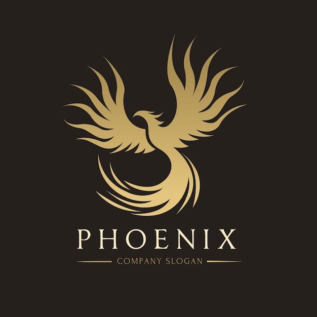 Phoenix logo, eagle en vogel logo symbool. vector logo sjabloon. Premium Vector