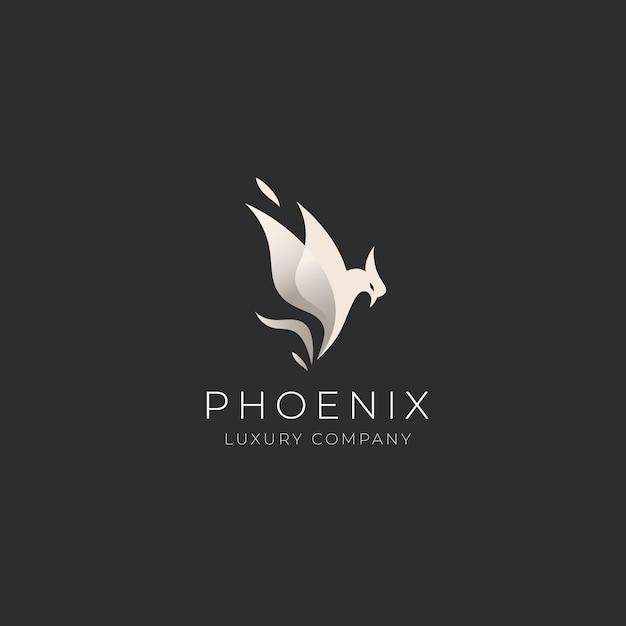 Phoenix logo sjabloon Gratis Vector