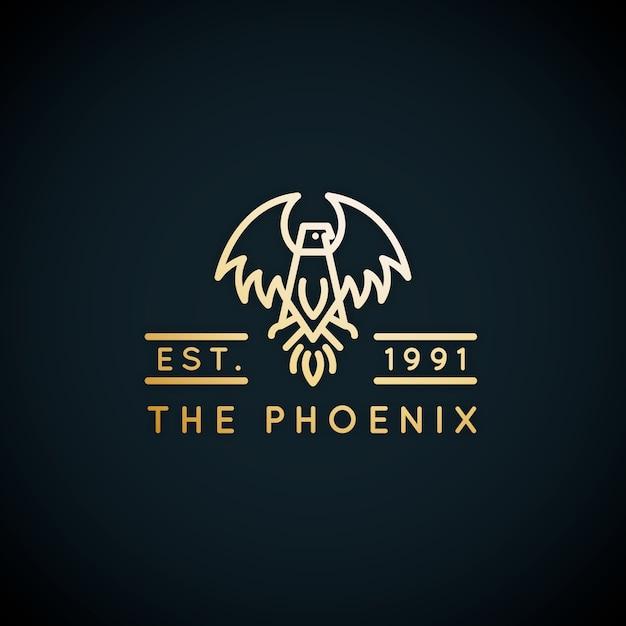 Phoenix logo sjabloonstijl Gratis Vector