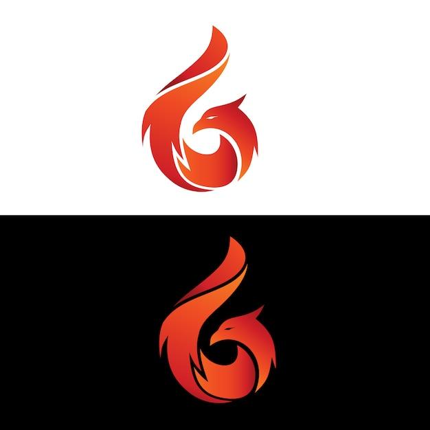 Phoenix logo vector Premium Vector