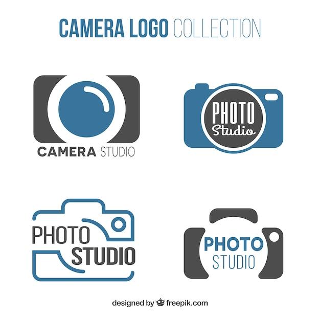 Photo studio logo collectie Gratis Vector