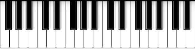 Piano toetsen. jazz live concert muziek achtergrond. Premium Vector