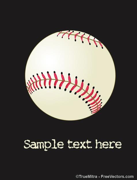 Pictogram honkbal bal Gratis Vector