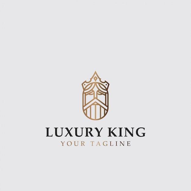 Pictogram logo van luxe koning Premium Vector
