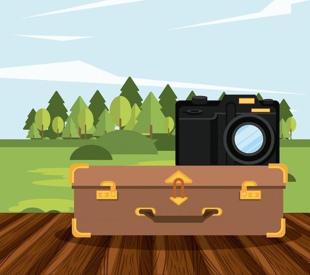 Pictogram reis en toerisme reizen Gratis Vector