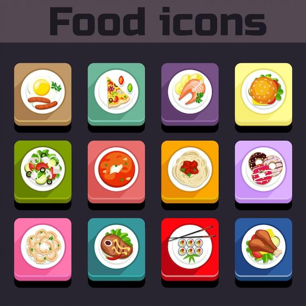 Pictogrammen maaltijd plan weergave Premium Vector