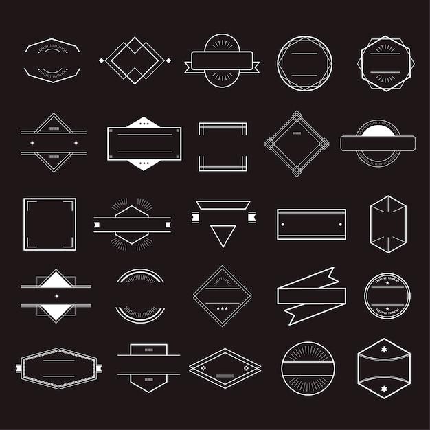 Pictogramsymbool badge logo collectie concept Gratis Vector