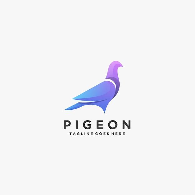 Pigeon beautiful pose-logo. Premium Vector