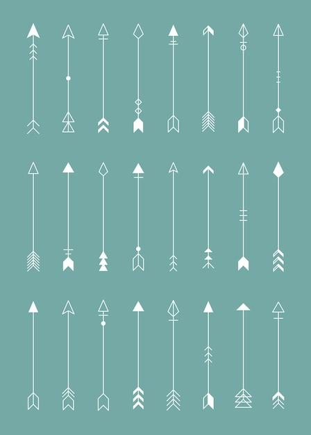 Pijl pictogrammen elementen Gratis Vector