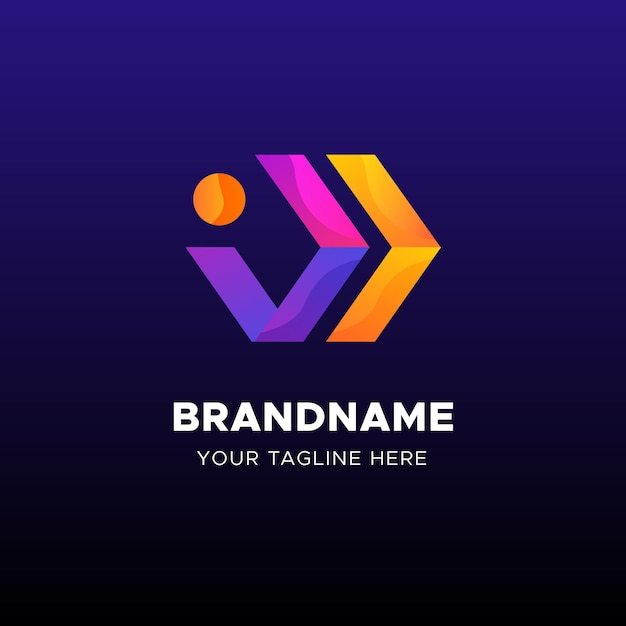 Pijlen logo business sjabloon Premium Vector