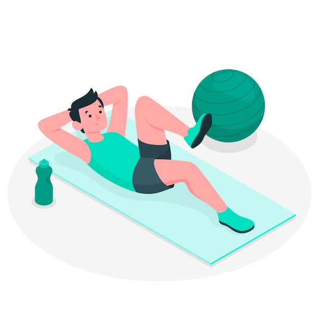 Pilates concept illustratie Gratis Vector