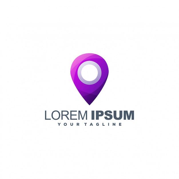 Pin locatie logo sjabloon Premium Vector