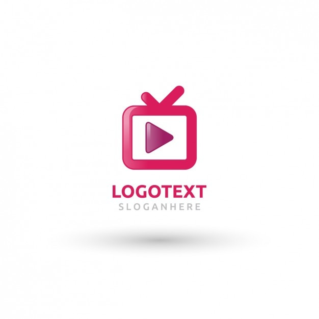 Pink tv logo Gratis Vector