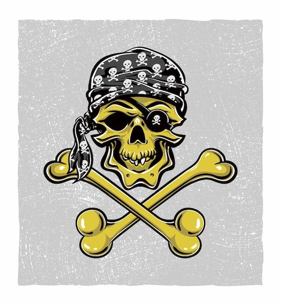 Piraat schedel Premium Vector