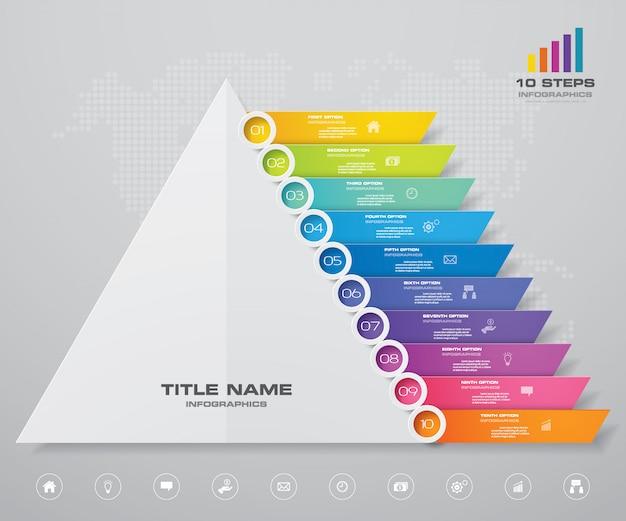 Piramide grafiek infographics Premium Vector