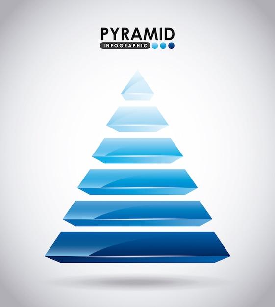 Piramide infographic Premium Vector