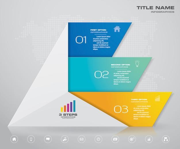 Piramide met vrije ruimte voor tekst op elk niveau. Premium Vector